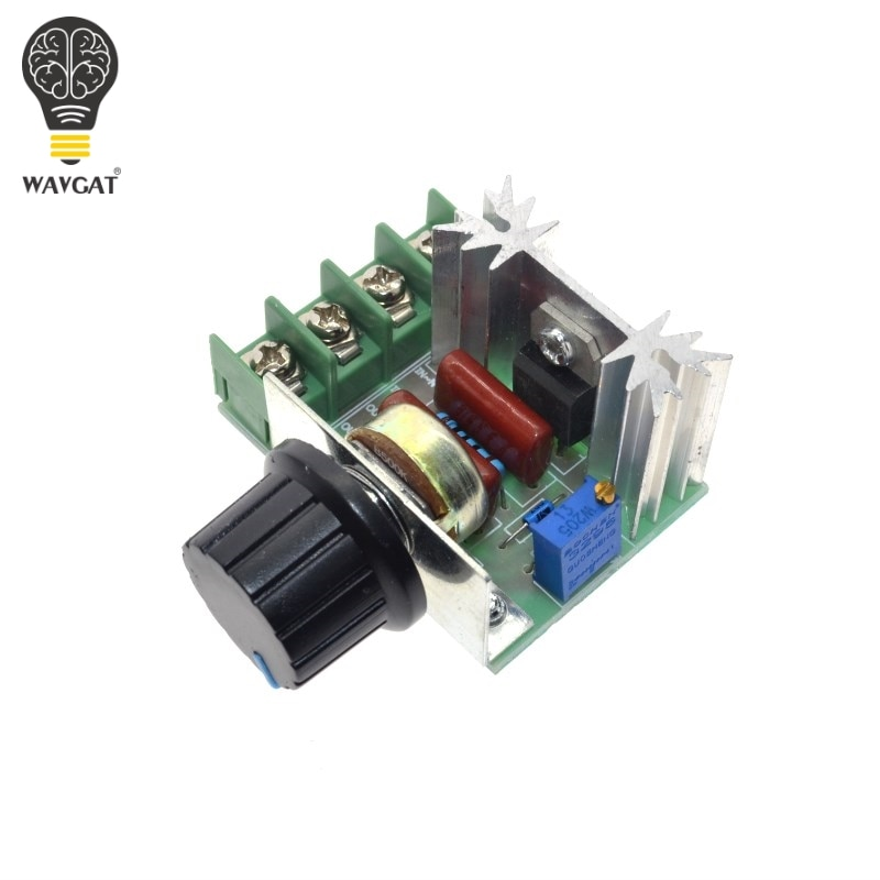 WAVGAT High Quality 2000W AC 220V SCR Electronic Voltage Regulator Module Speed Control Controller Worldwide Top Sale