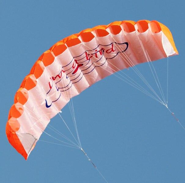 Nova Alta Qualidade 55-Polegada Linha Dupla Parafoil Kitesurf Kite Com Ferramentas Vôo Power Braid Vela Desportos de Praia