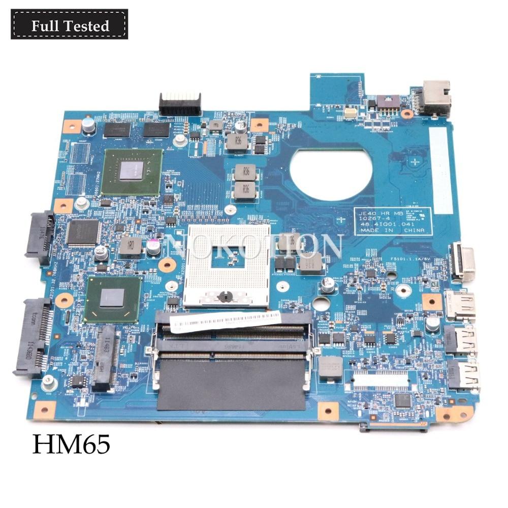 NOKOTION MBRUY01001 MB RUY01.001 JE40 HR MB 48.4IQ01.041 placa principal para acer Asipre 4750 4752 portátil placa base HM65 GT610M