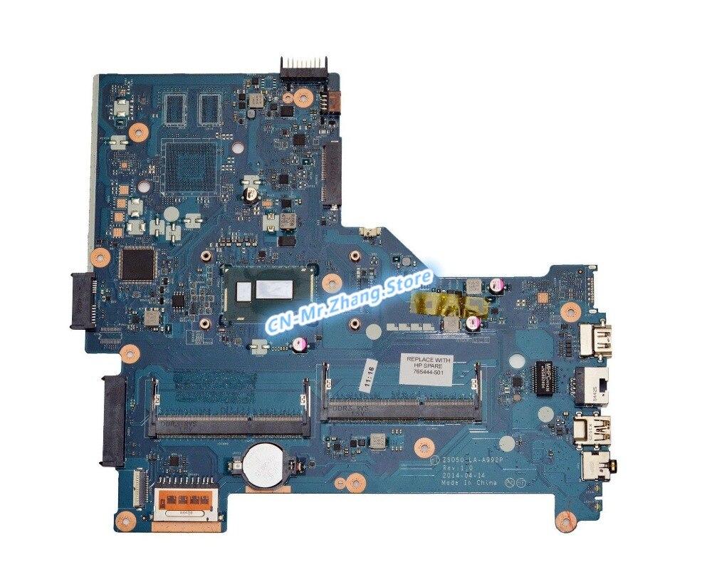 SHELI para placa base de ordenador portátil HP 15-R con CPU de i3-4005U 765444-501 LA-A992P DDR3