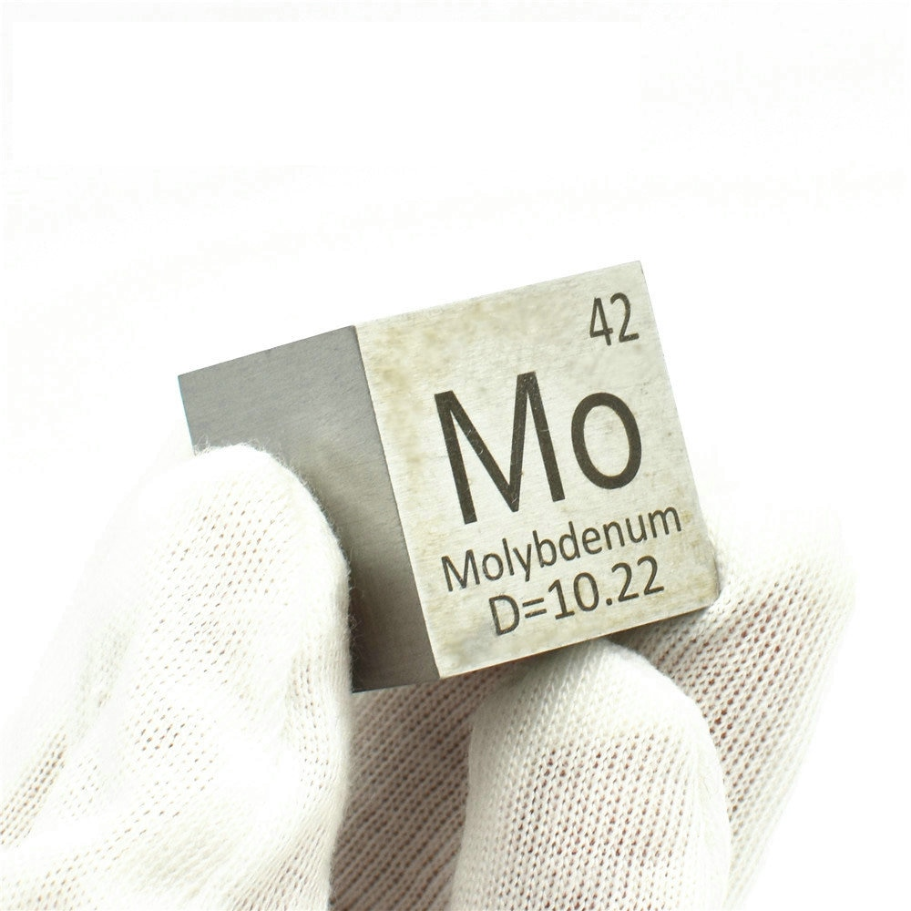 1 Inch Molybdenum Density Cube Mo Hard Metal 99.95% Pure for Element Collection Hand Made DIY Hobbies Crafts 25.4x25.4x25.4mm
