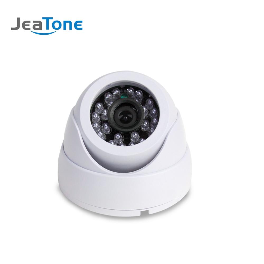 Cámara domo de seguridad analógica JeaTone 1200TVL, cámara de Video vigilancia interior CMOS Color blanco 15M IR visión nocturna