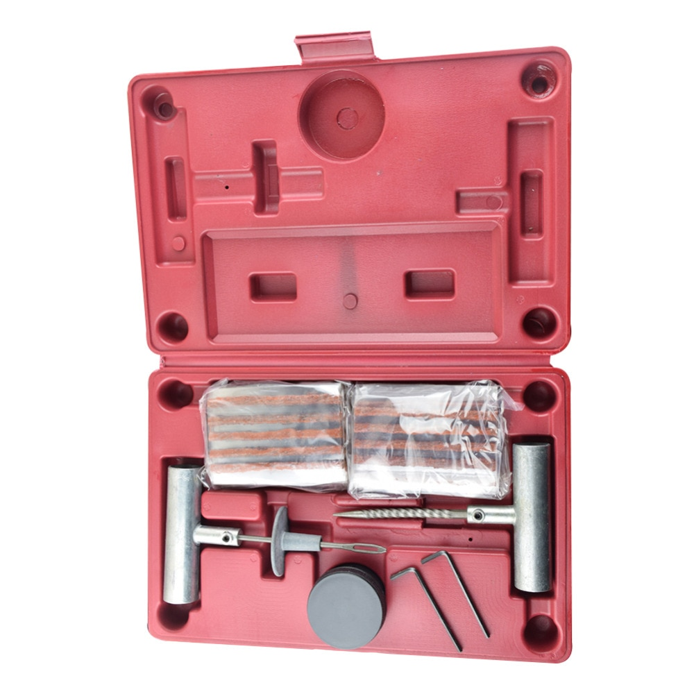 Kit de reparación de neumático sin cámara portátil, para coche y motocicleta, Kit de reparación de pinchazo en el neumático, herramienta de enchufe de emergencia para vehículo, herramientas para arreglar el coche, accesorios nuevos