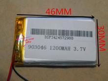 Supply lithium polymeer batterij 903046 3.7 V 1200 mM