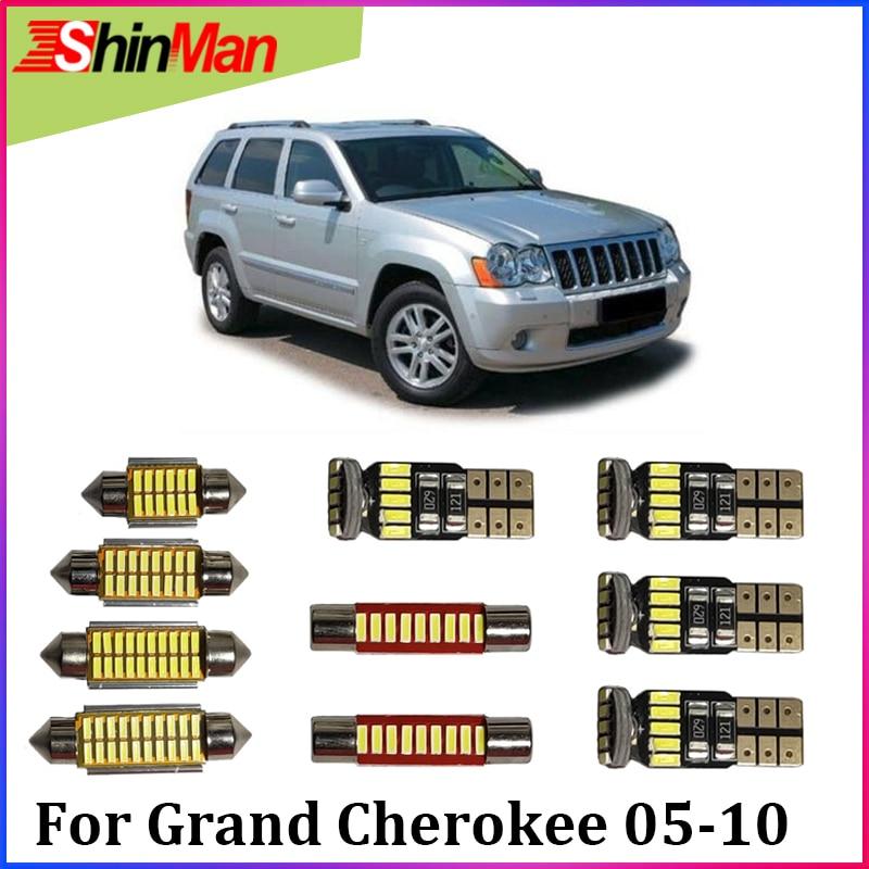 ShinMan 12x LED AUTO Licht Auto LED Auto beleuchtung Lese Licht Für Jeep Grand Cherokee WK LED Innen Licht 2005-2010