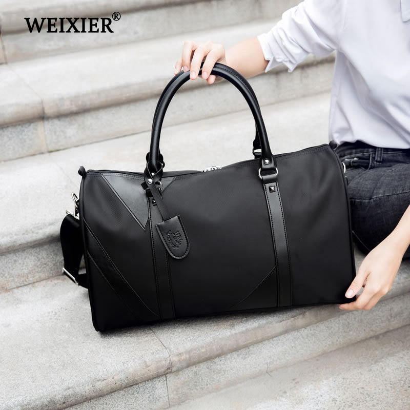 Men Travel Bags Fashion Nylon Big Travel Handbag Capacity Luggage Travel Duffle Bags Folding Trip Bag Large Nylon Totes weiju new casual travel bags men large capacity handbag luggage travel duffle bag nylon shoulder bag simple traveling bags
