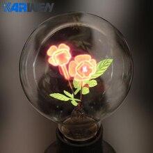 Лампа Эдисона KARWEN E27, лампа для дома, ночник, G80-Rose, цветы, I-Love-You, для рождественского и свадебного декора, лампы накаливания
