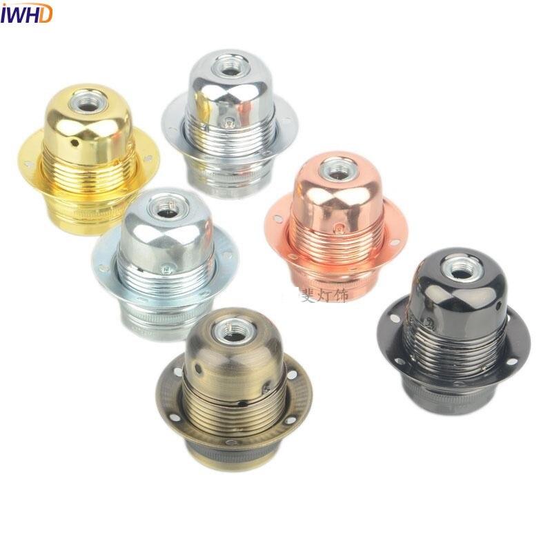 IWHD Portalamparas Douille E27 винтажная лампа цоколь основание держателя лампы промышленный патрон держатель лампы edison E27