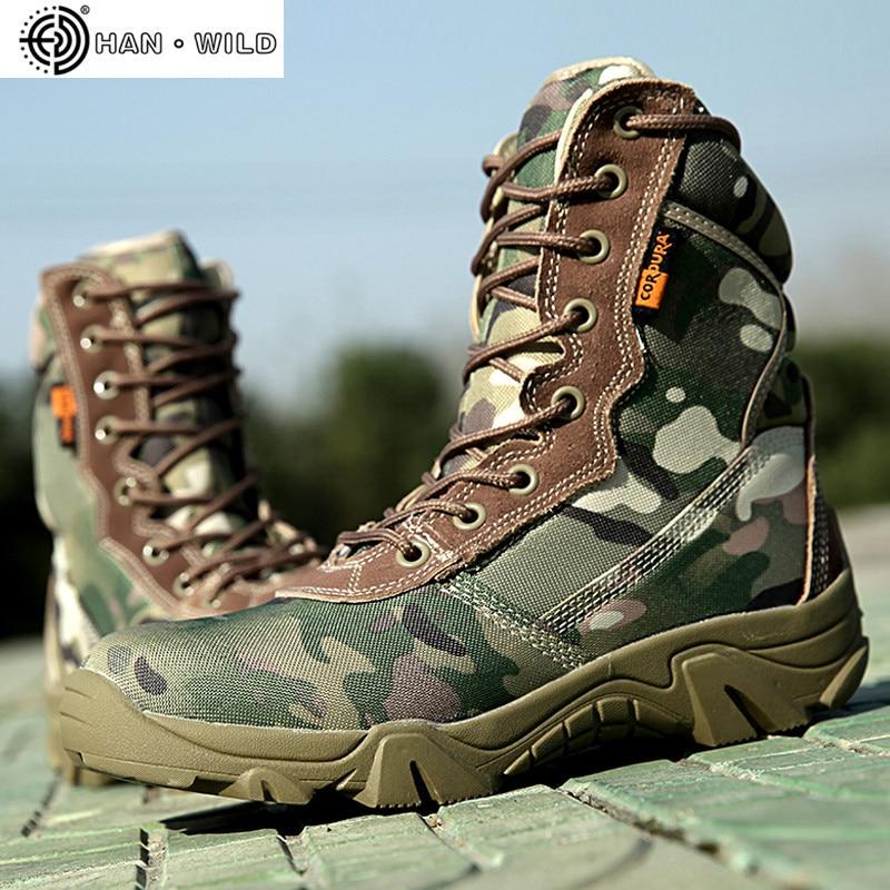 Botas tácticas militares de primavera para hombre, botas altas de lona de punta redonda con cremallera y cordones, botas militares de combate, botines informales para hombre, zapatos de desierto