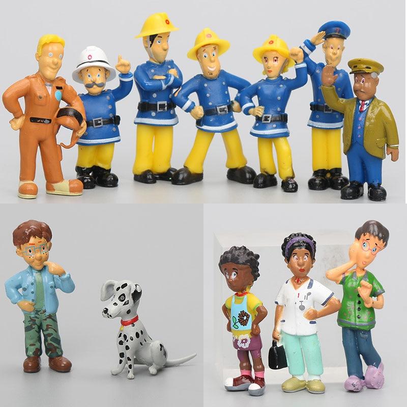 12 Teile/satz Cartoon Fireman Sam action figur spielzeug 2,5-6cm PVC Puppen fireman sam spielzeug kinder