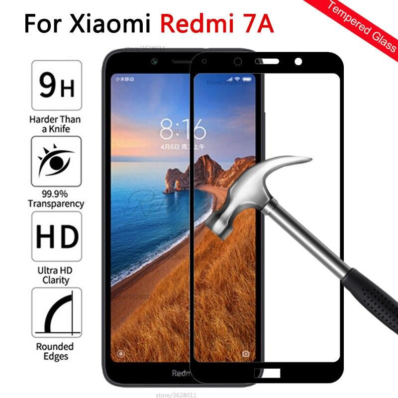 Couvercle complet en verre trempé pour xiaomi redmi 7A protecteur décran sur pour Xiomi redmi 7a 7 a redmi 7a Film de protection en verre tactile 9h