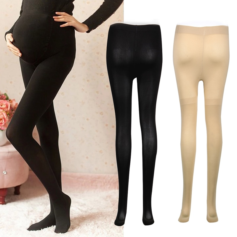 1 Pc 120D Women Pregnant Socks Maternity Hosiery Solid Stockings Tights Pantyhose Hot New