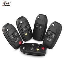 Dandkey Car Remote Key Shell Case Modified key For Volvo XC70 XC90 V40 V50 V70 V90 C30 C70 S40 S60 S70 S80 Fob 2 3 4 5 Buttons