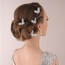 3 sztuk panny młodej do włosów w kształcie motyla Pin Wedding sukienka kostium stroik w kształcie spinka do włosów akcesoria do włosów