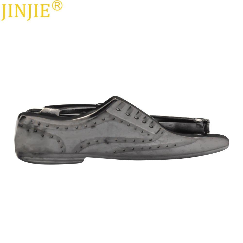 Arma Preta Sapatos De Modelagem Criativa Lava de Metal Clipe Alfinete de Gravata Laço Coreano Clipe de Trabalho Casuais dos homens de Negócios de Lazer Presente para Os Homens Patrão