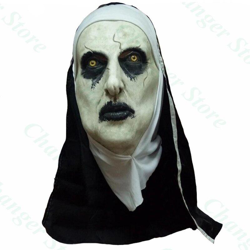 Le masque de nonne Valak film dhorreur casque en Latex accessoires de fête dhalloween
