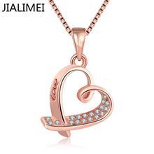 2016 haute qualité nouveauté JIALIMEI marque bijoux de mode couleur or collier avec zircon pour les femmes cadeau N011