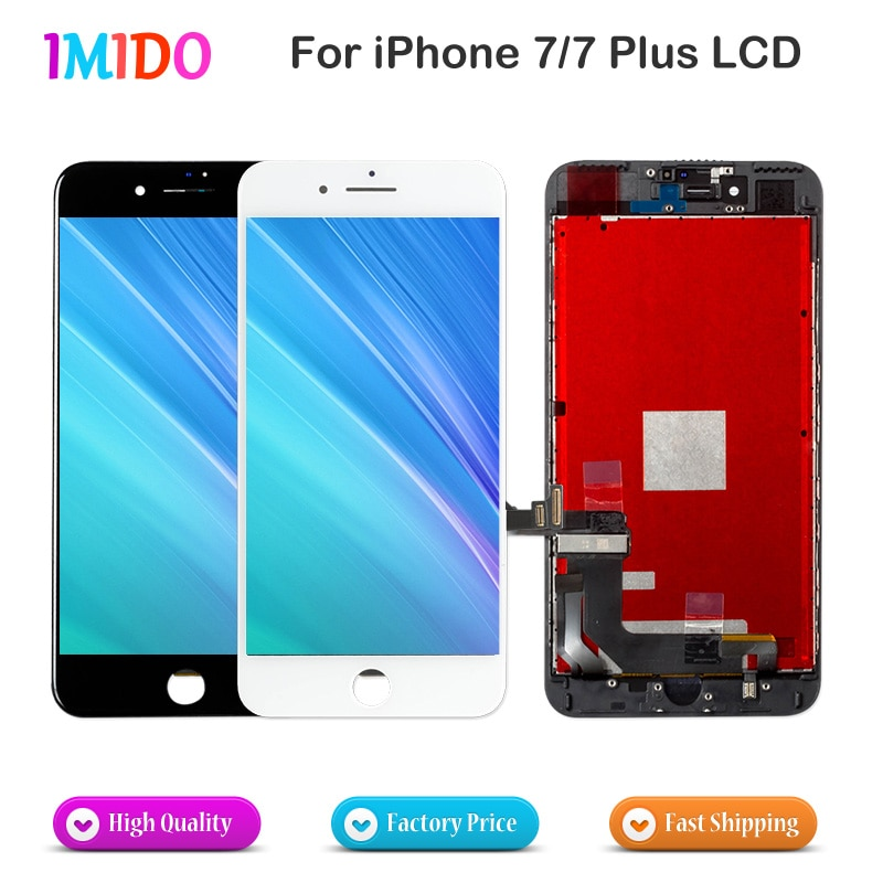 Review 10PCS LCD For Apple iPhone 7 7 Plus Display Touch Screen Digitizer Assembly No Dead Pixel Complete Replacement AAA+++Free DHL