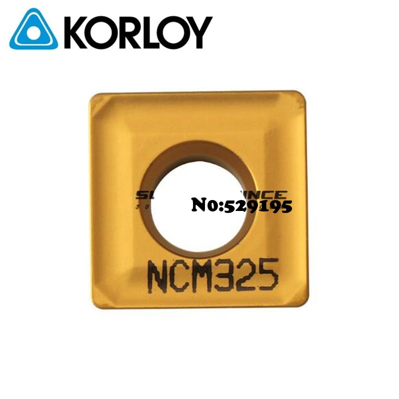 Korloy SPMT120408 NCM325 SPMT 120408 Cutting Tools CNC Inserts for turning tool holder Carbide Inserts Lathe Cutter Tools