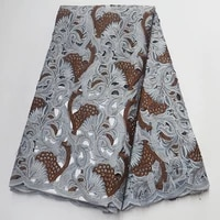 grey african cord french organza lace fabric stones nigerian embroidered tulle swiss double organza lace fabrics for women dress