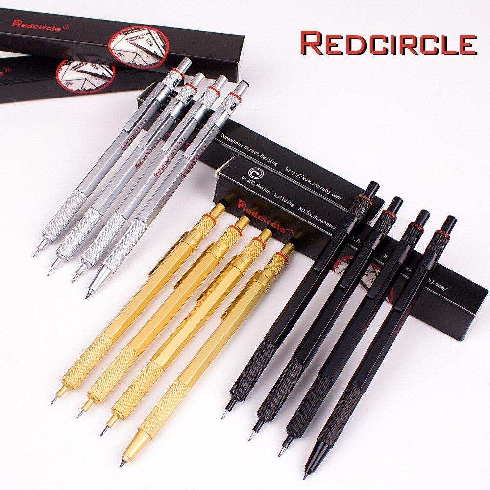 Lápiz de dibujo automático 0,5/0,7/0,9/2,0mm, lápiz mecánico corporal de metales de grafito para niños, regalo escolar