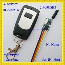 DC3V 3.3V 3.7V 4.5V 5V 6V 9V   Mini récepteur, commutateur de télécommande ultra-mince Micro + émetteur étanche M4 T4, apprentissage Cod