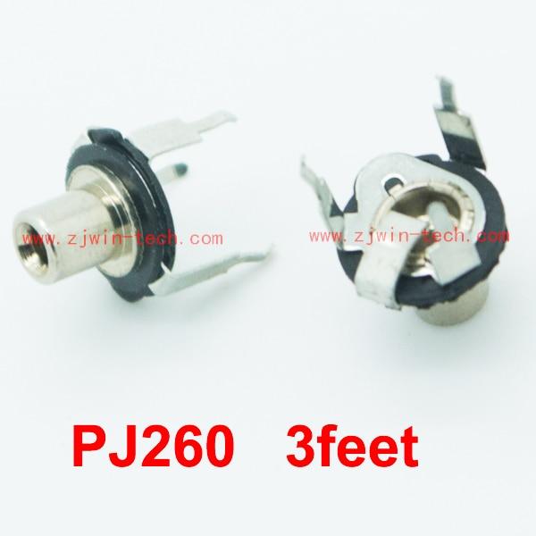 شحن مجاني 100 قطعة/الوحدة 2.5 ملليمتر أنثى جاك/موصل/مقبس/PJ260