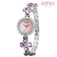 KIMIO marque de luxe Quartz femmes montres cadran trèfle naturel hors de la rue avec la montre montres à Quartz