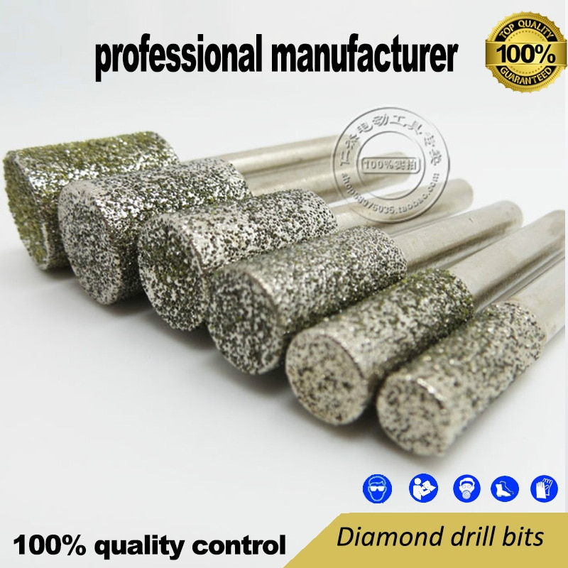 export quality for mini grinder tools 6pcs grinding kit made of 46# diamond  and 6mm shank at good price for home use nail for steel al alloy window use nails for home decoration use at good price free shipping