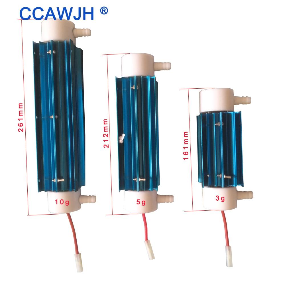 Atualizado! 110 v/220 v/dc12v tubo de silicone gerador de ozônio 10g 5g 3g ozônio purificador de água do ar (tubo + fonte de alimentação) matar bactérias