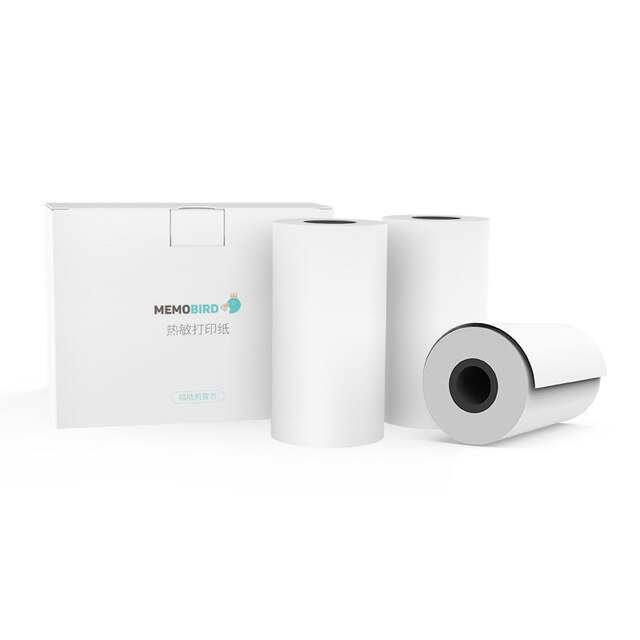 Memobird g3 go papel de impressão térmica 57*25mm 3 rolls foto impressão papel recibo sem bisfenol um jepod