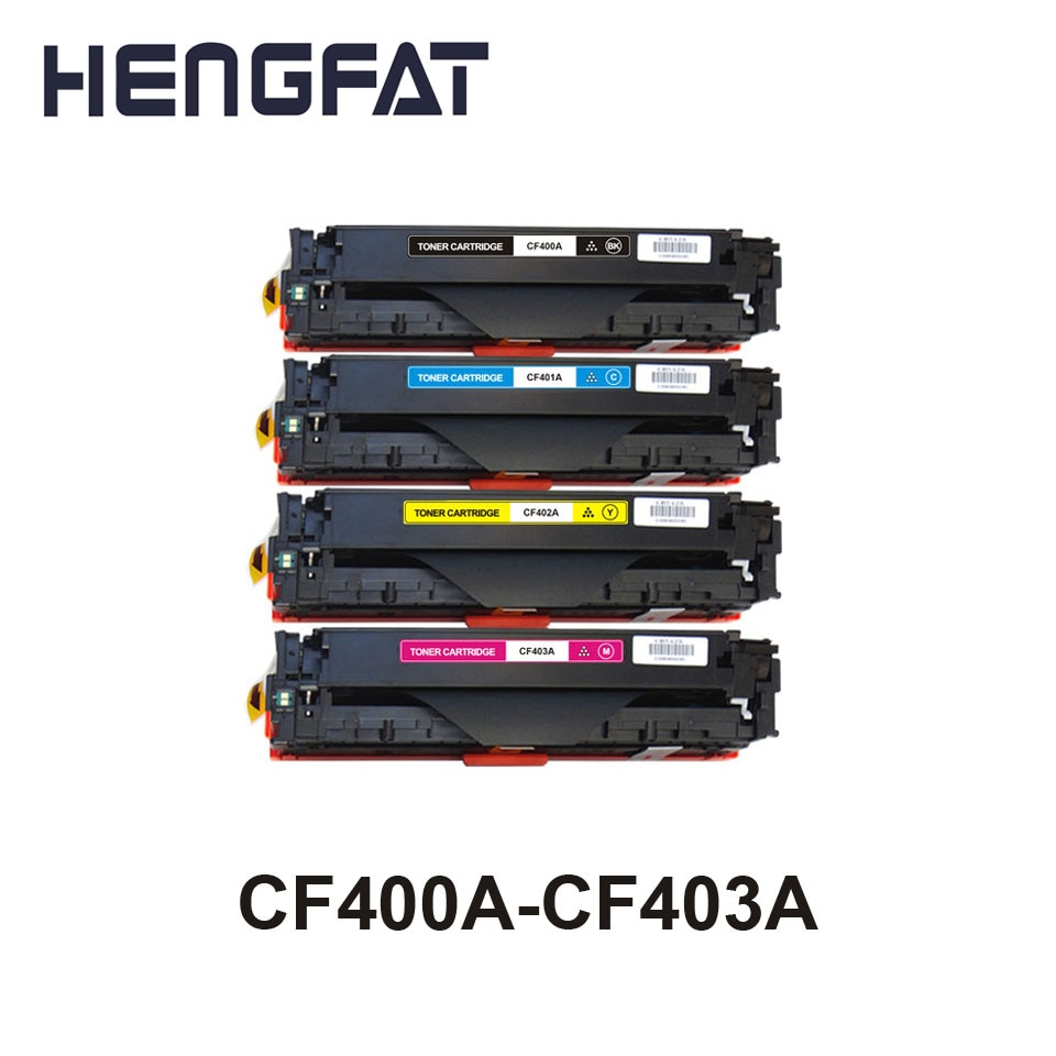Envío gratis 1 piezas cartucho de toner Compatible para HP CF400A 400a CF401A CF402A 402a CF403A 403a 201A LASEJET M252dw/M277n /277dw