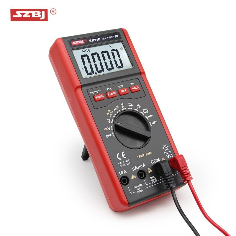 SZBJ high precision digital multimeter BM91A / BM91B AC/DC backlight automatic range capacitance meter