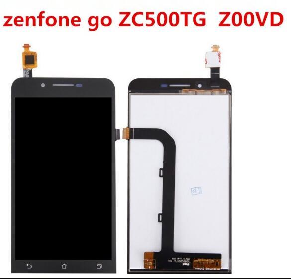 Alta calidad, 5 pulgadas para ASUS Zenfone Go ZC500TG, pantalla LCD completa + pantalla táctil Zenfone Go 5,0 Z00VD + Montaje del digitalizador de Marco