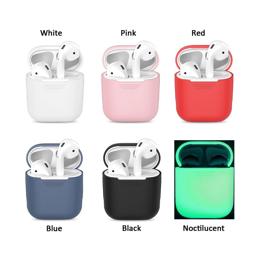 Funda de silicona para Apple Airpods Air Pods funda protectora bolsa Antipérdida Protector elegante manga Protector accesorios para cajas