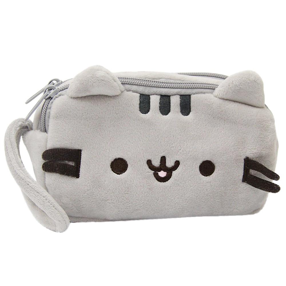 ¡Novedad de 2020! Estuche para lápices con diseño de gato, bonito estuche para pluma de peluche, bolsa para maquillaje, bolsa para cosméticos, regalo de papelería infantil, # NE810