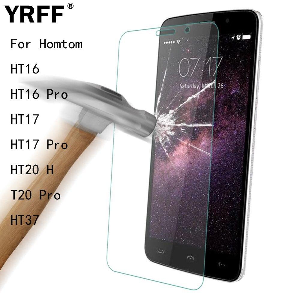 2 uds 2.5D 0,26mm protector de pantalla de vidrio templado película protectora para Homtom HT16 HT16 Pro HT17 HT17 Pro HT20 HT20 Pro HT37 herramientas