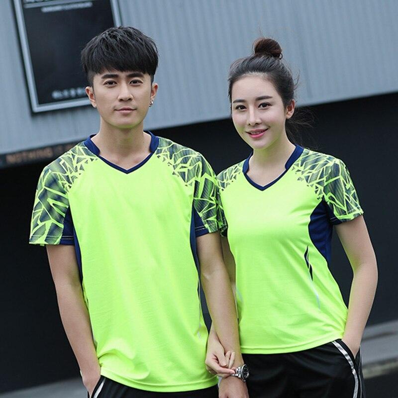 Impresión gratuita nueva camiseta de bádminton para hombre/mujer, ropa deportiva de bádminton, camisa de tenis de mesa, camiseta de tenis AY007