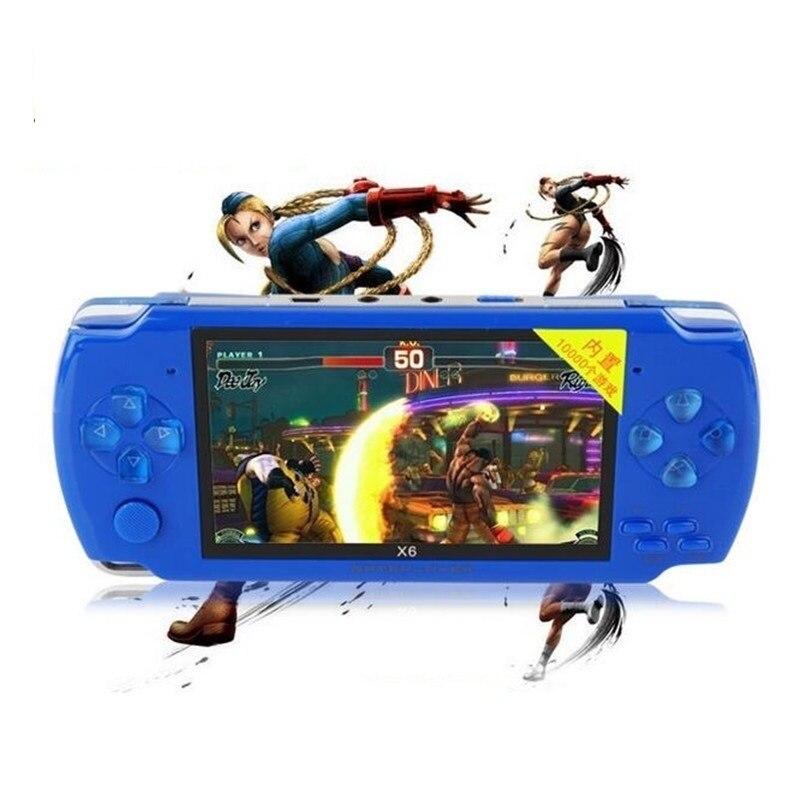 Computador portátil portátil de vídeo do console de jogos mp4 player 8 gb download grátis jogos de tv para fora retro console de jogos de jeux withe câmera alto-falante