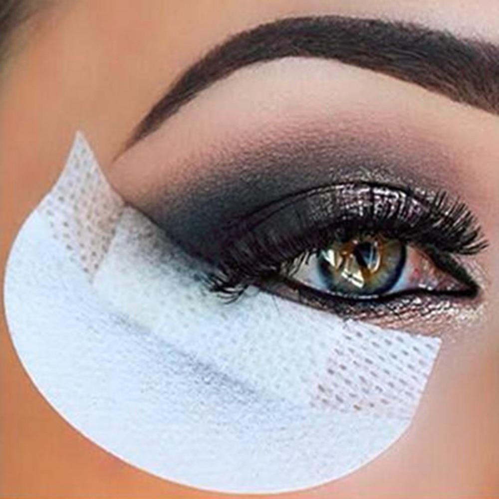 Профессиональная Накладка для нанесения теней под глаза, 20 шт., одноразовые накладки для наращивания ресниц, защитные накладки для глаз, губ, инструмент для макияжа