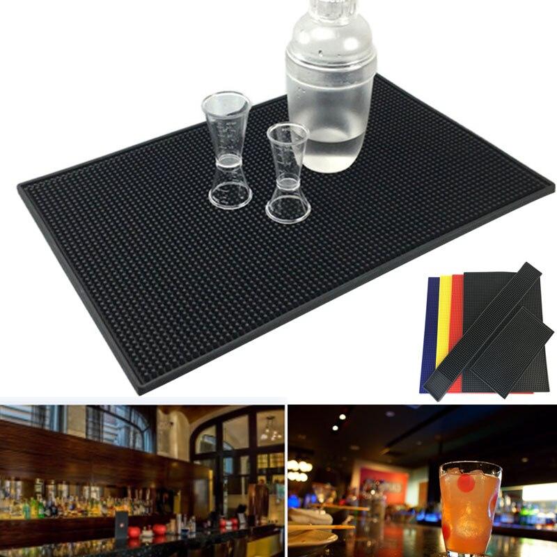 Tapis de Bar en caoutchouc antidérapant   Coureur de Bar en verre, plateau à goutte de bière, Rail de boissons, tapis de Service de Bars, YU-Home