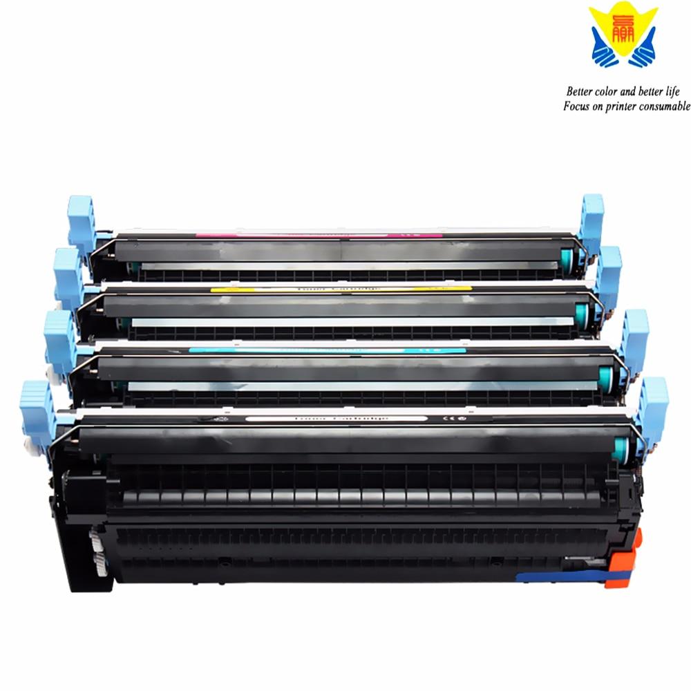 JIANYINGCHEN tóner de color compatible cartucho para HPslaserjet color 5500 5500dn 5500dtn 5550 5550dn 5550dtn (4 unids/lote)