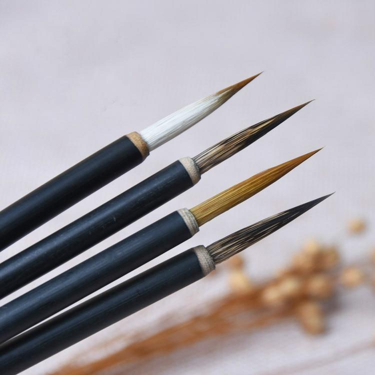 Роскошная мышь, искусственная ручка, набор китайской каллиграфии, кисть с волчьими волосками, пейзажная живопись, ручка для рисования в сти...