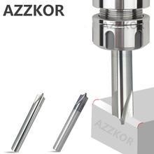 ماكينة تقطيع سبائك الطلاء والتنجستين المحدب من azkor بواسطة ألومنيوم 4 شفرات نهاية للبيع بالجملة ماكينة تقطيع الفولاذ العلوية HRC55