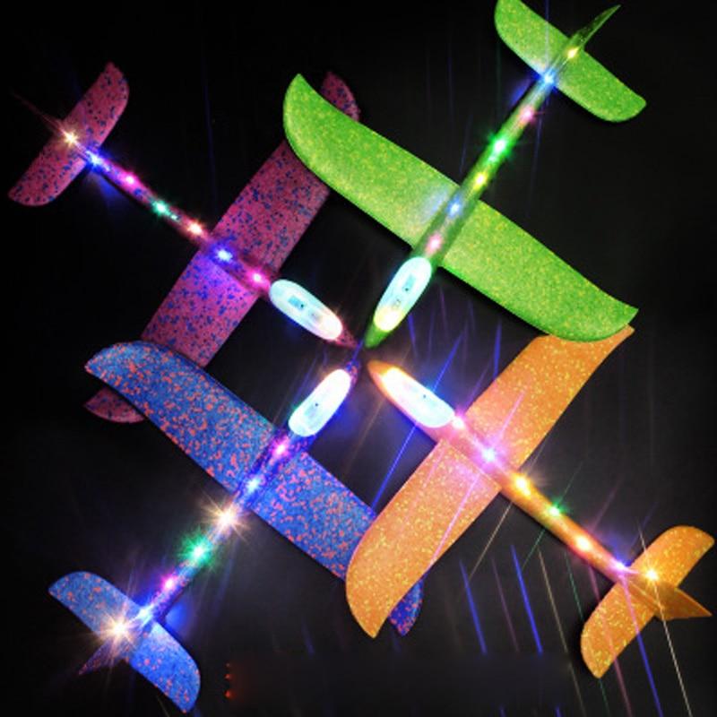 Avión de 48cm para niños, avión a mano, Avión de espuma EPP, avión planeador DIY, montaje de aviones de juguetes para niños, regalo de Navidad