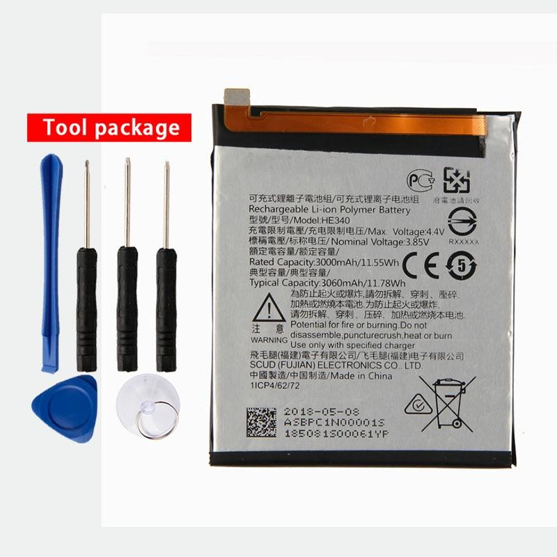 Original High Capacity HE340 Phone battery For Nokia 7 3000mAh