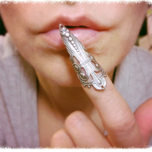 Nuevos anillos de dedo Punk de moda Talon Nail Rings accesorios para mascarada garra falsa garra Talon anillo de dedo para mujeres LQ0041