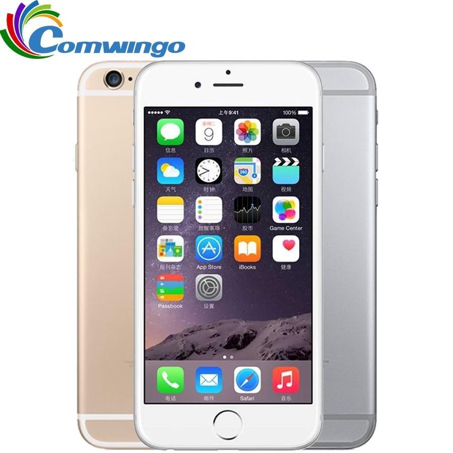 Teléfonos móviles Apple iPhone 6 desbloqueados 1GB RAM 16/64/128GB ROM 4,7 'IPS GSM WCDMA 4G LTE teléfono móvil iPhone 6 usado