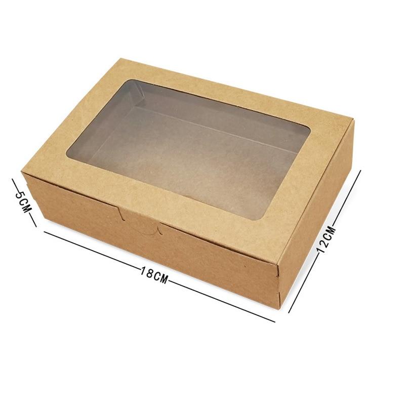 Caja de papel Kraft marrón con ventana, caja de regalo de boda,...