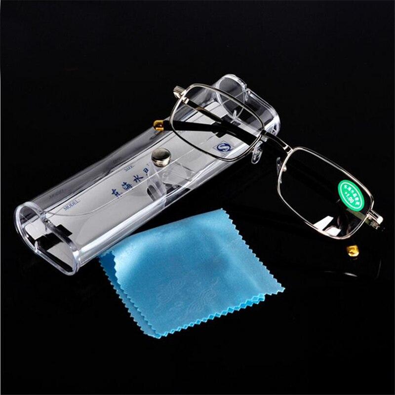 Gafas de lectura de cristal para hombres y mujeres, marco de Metal, gafas ópticas para presbicia de hipermetropía, 1,0 + 1,5 + 2,0 + 2,5 + 3,0 + 3,5